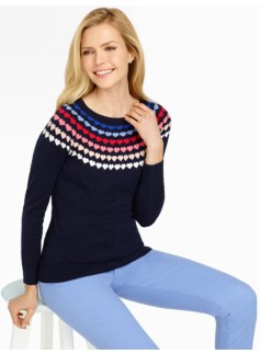 Hearts Fair Isle Sweater