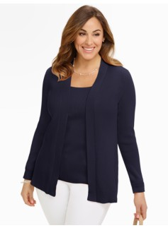 Pima Cotton Ribbed Cardigan
