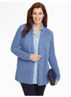 Shoulder-Cable Cardigan
