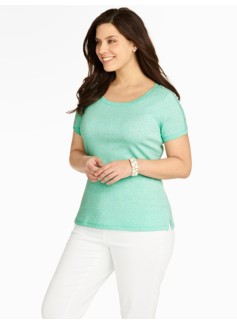 Stretch Weekend Shoulder-Button Tee
