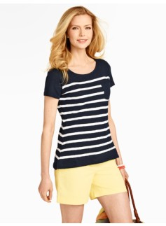 Blocked Stripe Pocket Tee