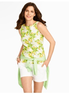 Lemon Bunches Boatneck Tank