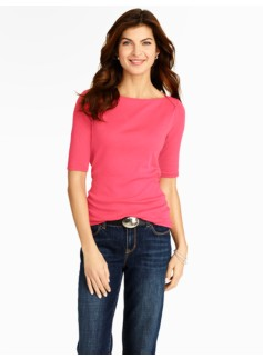 Pima Cotton Envelope-Shoulder Tee