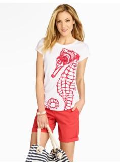 Seahorse-Print Tee