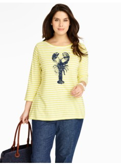 Lobster & Lucky Stripes Tee