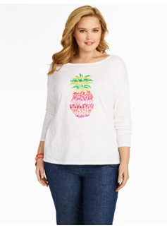 Embroidered Pineapple Tee