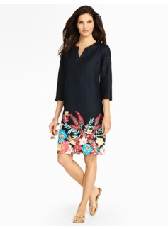 Tropical Flower Blocked Tunic