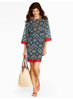 Floral Bandana-Print Tunic