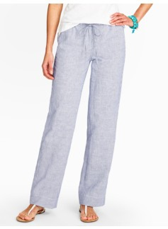 Relaxed Full-Length Coastal Stripe Pants