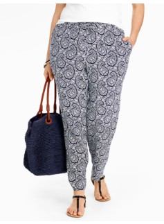 Tulip Paisley Relaxed Full-Length Pants