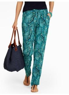 Paisley Relaxed Full-Length Pants
