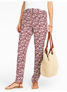 Tropical Floral Relaxed Full-Length Pants