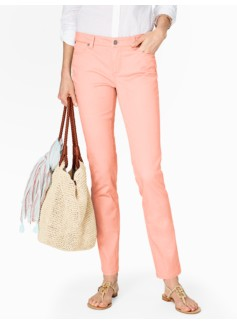 Slimming Signature Colored Denim Ankle Jeans