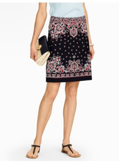 Dotted Paisley A-Line Skirt