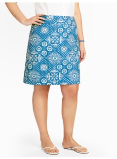 Diamond Bandana A-Line Skirt