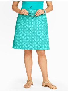 Diamond Foulard A-Line Skirt