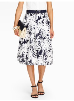 Tropical-Palms Full Skirt