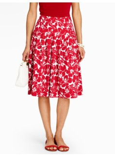 Hibiscus Pleated Full Skirt