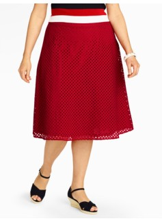 Diamond-Eyelet Full Skirt