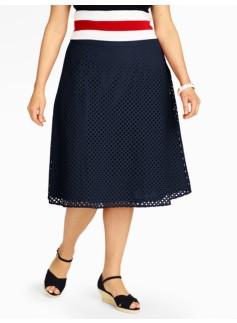 Diamond-Eyelet Full Skirt