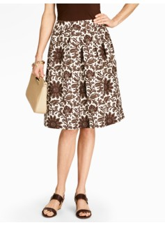 Woodblock Flowers Skirt