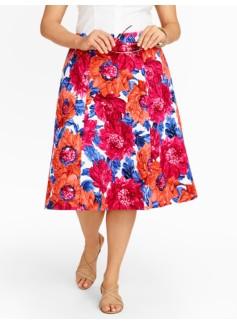 Mums-Print Full Skirt