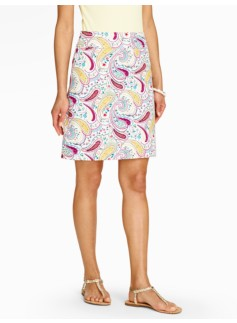 Country Paisley A-Line Skirt
