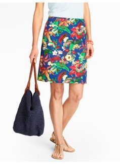 Tropical Flowers A-Line Skirt