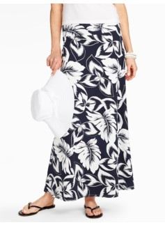 Tropical Palms Maxi Skirt