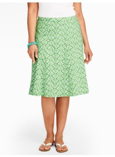 Clover Ikat Knit Skirt