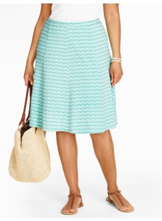 Zigzag Seamed Knit Skirt