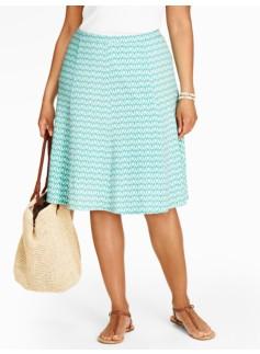 Zigzag Seamed Knit Skirt