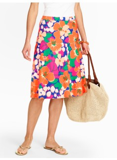 Island Floral Knit Skirt