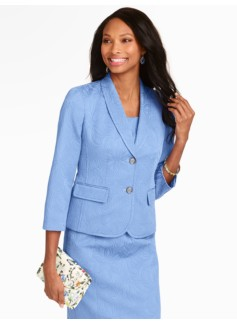 Wave Matelass� Shawl-Collar Jacket
