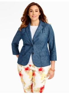 Chambray Patch-Pocket Jacket