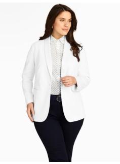 White Cotton Piqu� Jacket