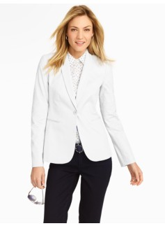 White Cotton Piqu� Jacket