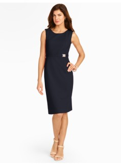 Belted Textured Knit Dress