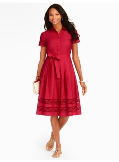Eyelet-Embroidered Shirtdress