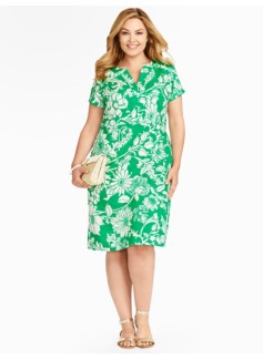 Flower-Print Tunic Dress