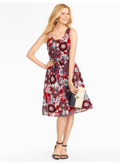 Jacobean Floral Dress