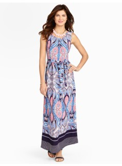 Floral Paisley & Dot Maxi-Dress
