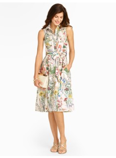 Wild Flowers Shirtdress