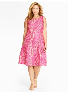Paisley Fit-And-Flare Dress