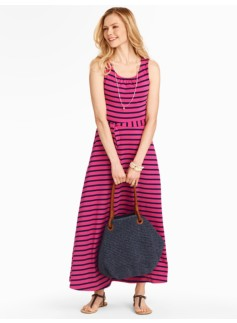 Pier-Stripe Maxi Dress