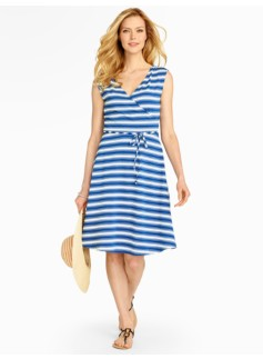 Stripe Casual Jersey Dress