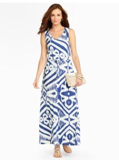 Bold Ikat Maxi Dress