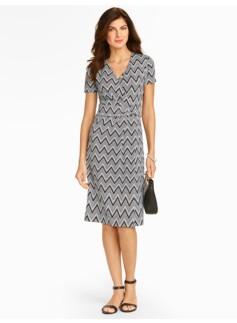 Zigzag Classic Jersey Dress
