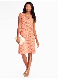 Ikat Fleur-De-Lis Casual Jersey Dress