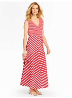 Keaton Stripes Maxi Dress